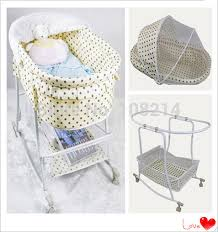 Auto Newborn Cot Swing Baby Bed Mosquito Net Dot f white For