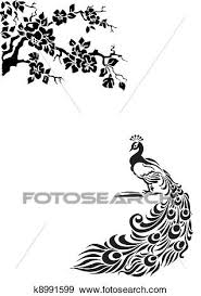 Clip Art Of Peacock K8991599