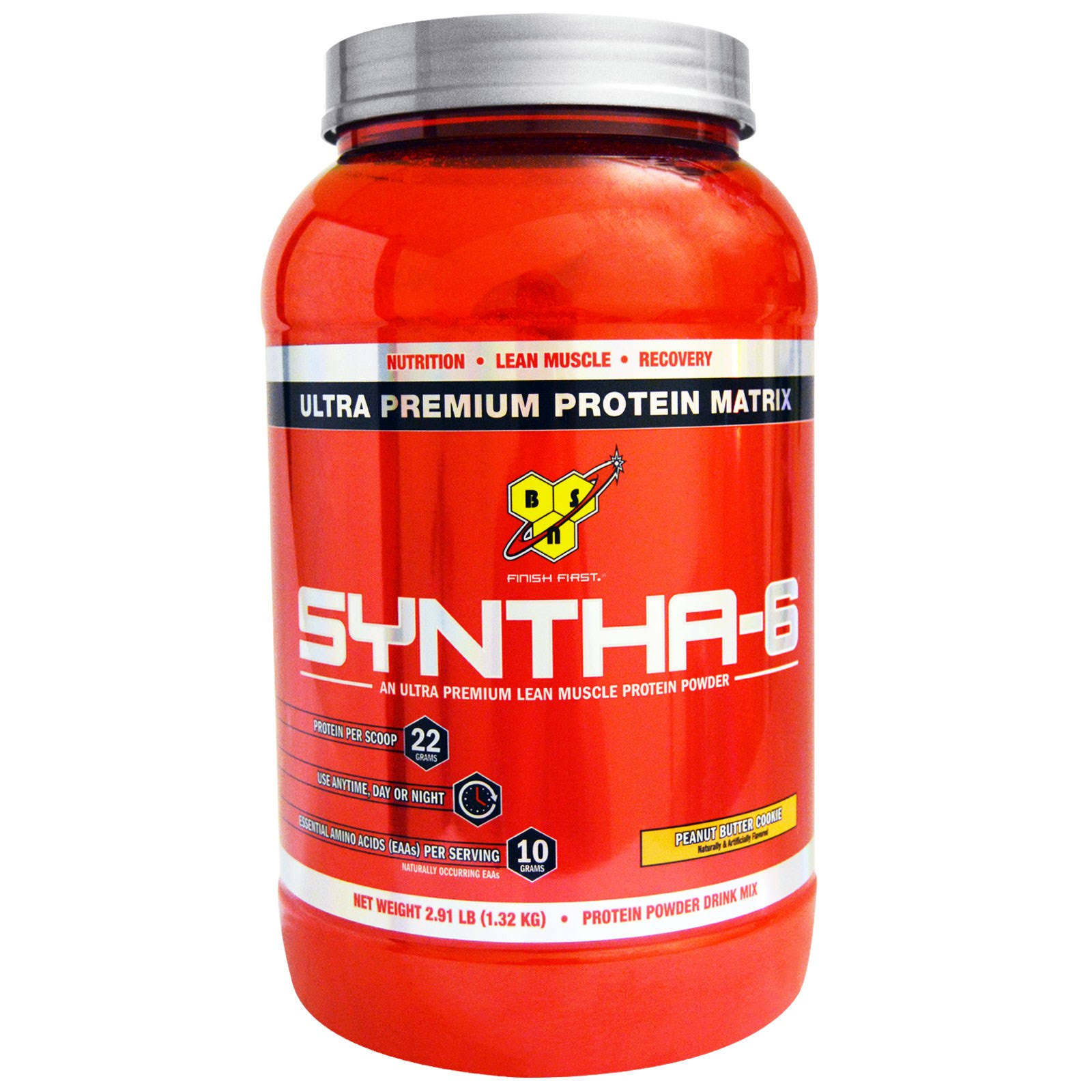 BSN Syntha-6 Protein Powder - Peanut Butter Cookie, 2.91lbs, 28 Servings
