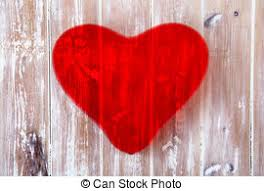 Valentines Day Love Heart On Rustic Wood Background