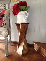 Diy Twisty Side Table Woodworking Projects