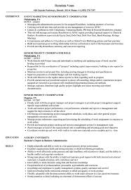 100 Project Coordinator Resume Senior Samples Velvet Jobs