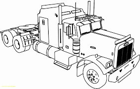 100 Awesome Semi Trucks Truck With Trailer Coloring Pages Coloring Pages