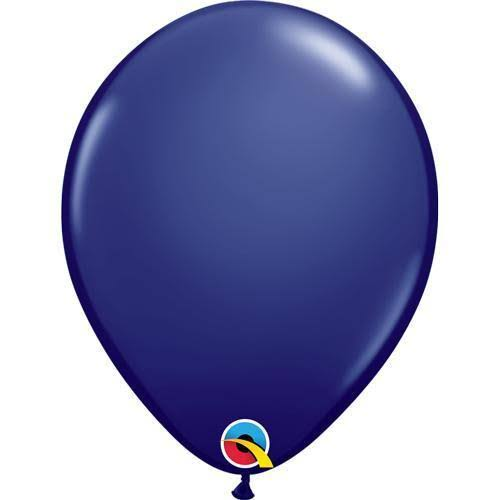 Qualatex 57127 11 inch Latex Balloons -Navy Blue (100 Pack)