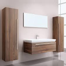 badmöbel waschplatz waschtisch set 5 teilig in walnuss