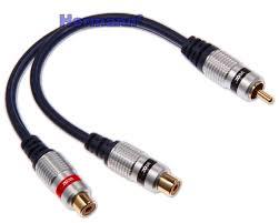 Cinch Y Kabel Verteiler Subwooferkabel Subwoofer Adapter 2x RCA