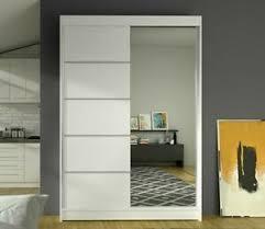 details zu kleiderschrank lences iii einlegeboden schrank mit spiegel wohnzimmer modern