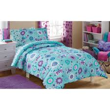 Mainstays Kids Butterfly Floral Bed in a Bag Bedding Set Walmart