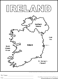 Flag Of Ireland Vintage Irish Coloring Pages
