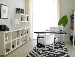 Bright Ikea Wall Shelves Look Miami Modern Home Office Decorating Ideas With Beige Tile Black And White