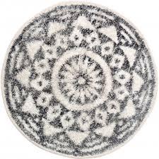 hk living runder teppich für das badezimmer aus baumwolle 60cm durchmesser mit skandi muster