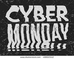 Cyber Monday Sale Bad Photocopy Distorted Glitch Art Typographic Poster Glitchy Words For Retail