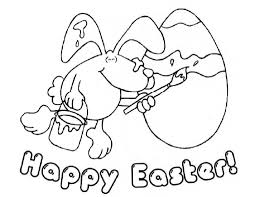 Happy Easter Coloring Pages And Color
