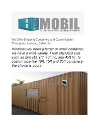 100 Shipping Containers California Calamo Solvang Mobil Container Solutions