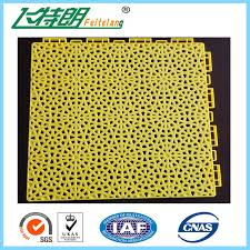 indoor pp suspended interlocking rubber floor tiles modular hockey