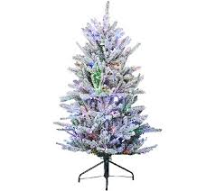 Qvc Christmas Tree Recall by Santa U0027s Best 5 U0027 Snow Flurry Tree With 7 Function Led Lights Page