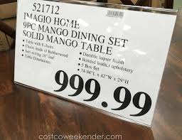 Deal For The Imagio Home 9 Piece Solid Wood Dining Set At Costco