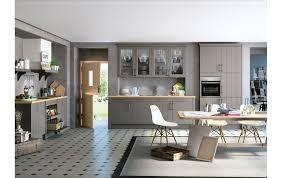 moderne landhausküche contur küche 55 210 in seidenglanzlack achtagrau