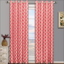 Pink Sheer Curtains Walmart by Interior Awesome Sheer Curtain Panels With Designs Coral
