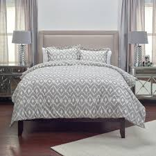 King Bed Comforters by Rizzy Home Natural Taupe Ikat Pattern 3 Piece King Bed Set
