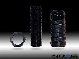 NRG STEALTH HEIGHT ADJUSTABLE SHIFT KNOB BLACK 10X1 5