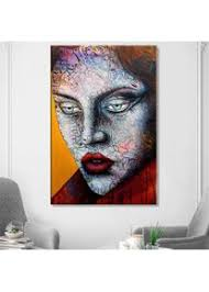 abstrakte mädchen wandmalereien druck leinwand wandkunst