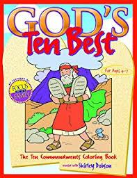 Gods Ten Best The Commandments Coloring Book Books