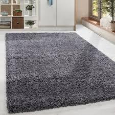 paket shaggy hochflor langflor teppich soft wohnzimmerteppich farbe grau einfarbig