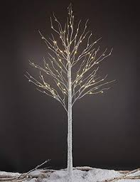 Lightshare 8FT 132 LED Birch TreeHome Festival Party ChristmasIndoor