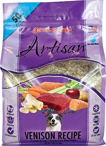 Grandma Lucy's Grain Free Artisan Venison Freeze Dried Dog Food, 10lb