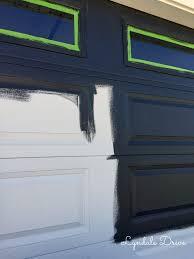 Got Paint Painting the Garage Door Black
