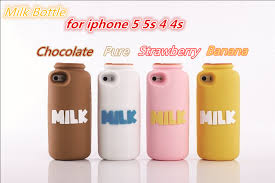 For iphone 5 5G 5s milk case 3D Cute Milk Bottle Silicone Case