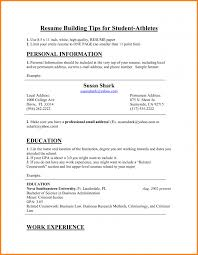 Athletic Resume Template Student Athlete Writing Tips Of 12