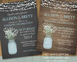 Mason Jar Wedding Invitations Is Catchy Ideas Which Can Be Applied Into Your Invitation 1