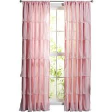 Purple Ruffle Curtain Panel by Pink Curtains U0026 Drapes Joss U0026 Main