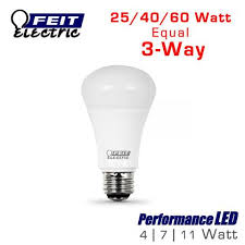 led 3 way three way light bulb 60 watt equal feit a25 60 led