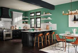This Kitchen Is On Trend For 2017 In Multiple Ways A Trendy Color Blocked