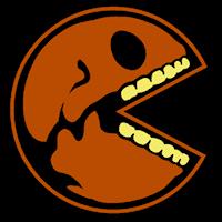 Pac Man Pumpkin Pattern by Pacman Skull Stoneykins
