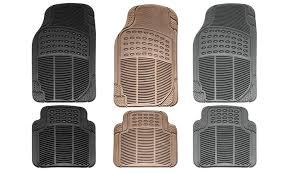 Car Floor Mats by Car Rubber Mats Set 4 Pc Groupon Goods