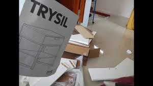 Ikea Trysil Bed by Assembling Ikea Trysil Bedside Stopmotion Youtube