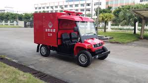 China New Water Tank Mini Fire Vehicle Electric Fire Engine Utility ...