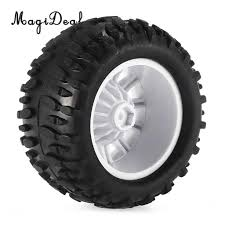 MagiDeal Rubber 1/16 RC Climbing Car Monster Truck Wheels Tyres Tire ...