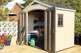 8x6 outdoor garden storage shed keter
