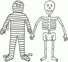 Free Halloween Skeleton Coloring Sheets 5 Tee Wallpapersskeleton Pages