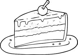 Black And White Cartoon Slice Cake Stock Vector Art & More of Bizarre