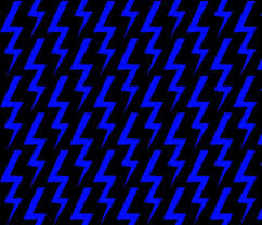 Blue Lightning Bolt On Black Background Fabric