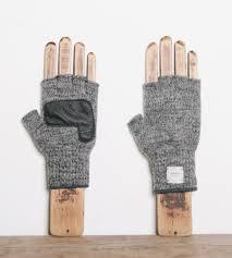 handknit fingerless wool gloves with deerskin men u0027s accessories