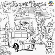Hard Halloween Coloring Page 01