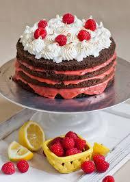 Chocolate Raspberry Cake with Lemon Curd & Meringue Tatyanas
