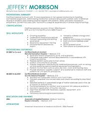 Medical Assistant Resume Example On Resumes Examples